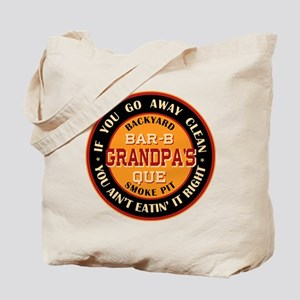 Grandpa's Backyard Bar-b-que Pit Tote Bag