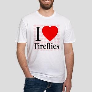 I Love Fireflies Fitted T-Shirt