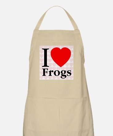I Love Frogs BBQ Apron