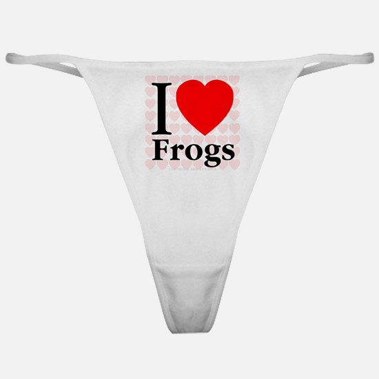 I Love Frogs Classic Thong