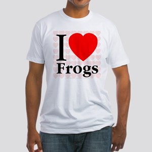 I Love Frogs Fitted T-Shirt