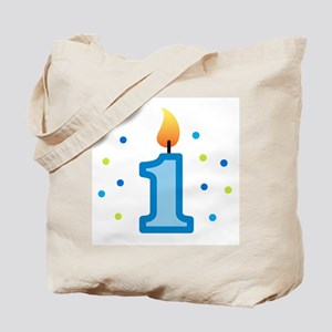 First Birthday - Candle (Boy) Tote Bag
