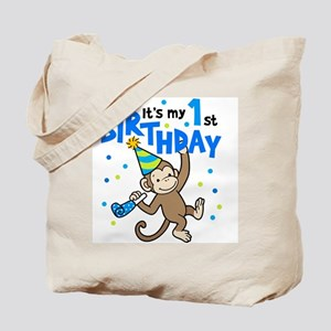 First Birthday - Monkey Tote Bag