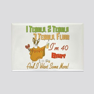 Tequila 40th Rectangle Magnet