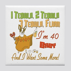Tequila 40th Tile Coaster