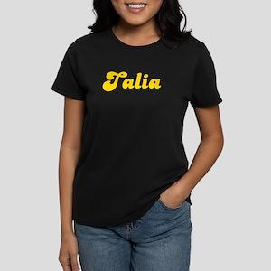 Retro Talia (Gold) Women's Dark T-Shirt