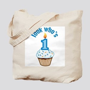 First Birthday - Cupcake (Boy) Tote Bag