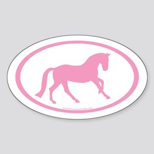 Canter Horse Oval (pink/white)Oval Sticker