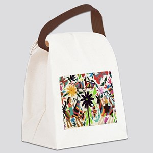 Otomi ladies on horses Canvas Lunch Bag