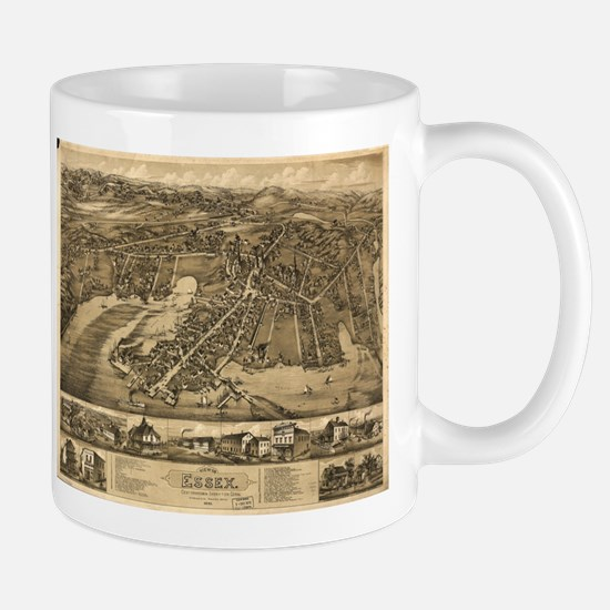 Vintage Pictorial Map of Essex Connecticut (1 Mugs