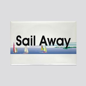 TOP Sail Away Rectangle Magnet
