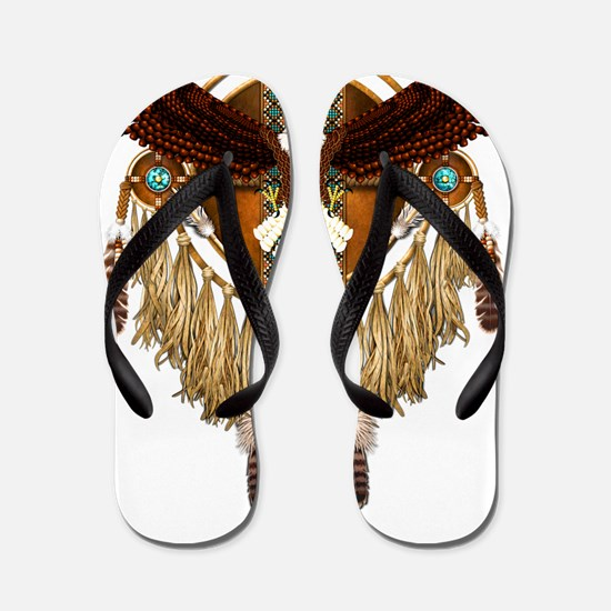 Unique Native american indians Flip Flops