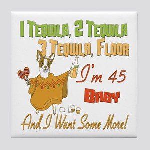 Tequila 45th Tile Coaster