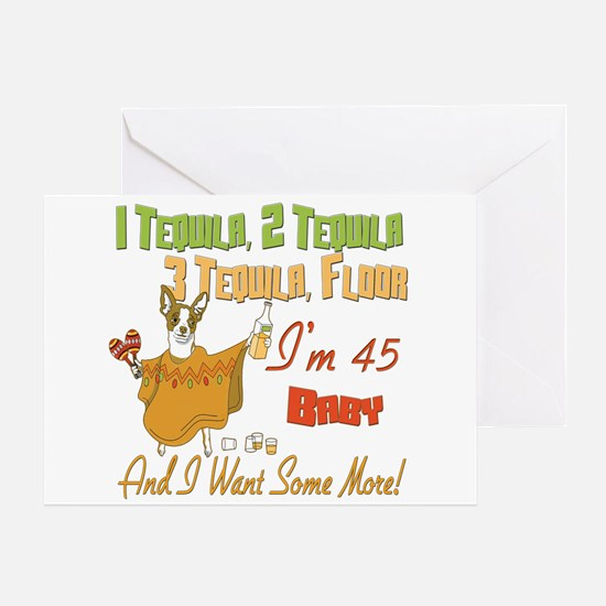 Tequila 45th Greeting Card