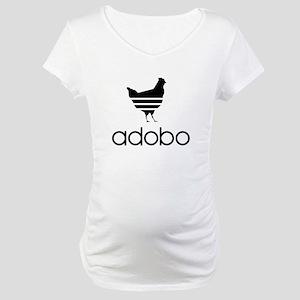 Adobo Black Print Maternity T-Shirt