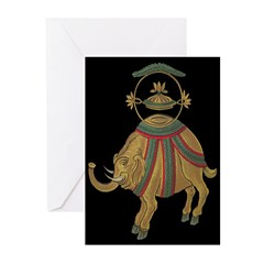 Asian Elephant Greeting Cards (Pk of 10)