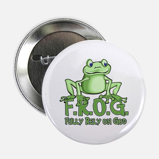 """Fully Rely on God 2.25"""" Button"""
