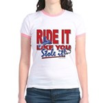 Ride It Like You Stole IT Jr. Ringer T-Shirt