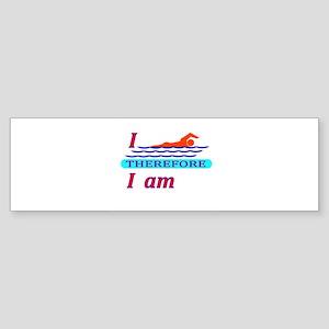 i swim therefore i am Bumper Sticker