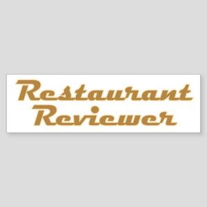 Restaurant Reviewer Sticker (Bumper)