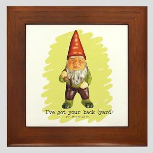 Gnome Got Your Back Framed Tile