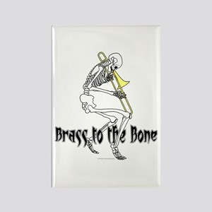 Brass To The Bone Rectangle Magnet