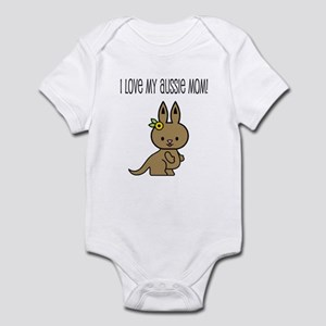 I Love My Aussie Mom Kangaroo Infant Bodysuit