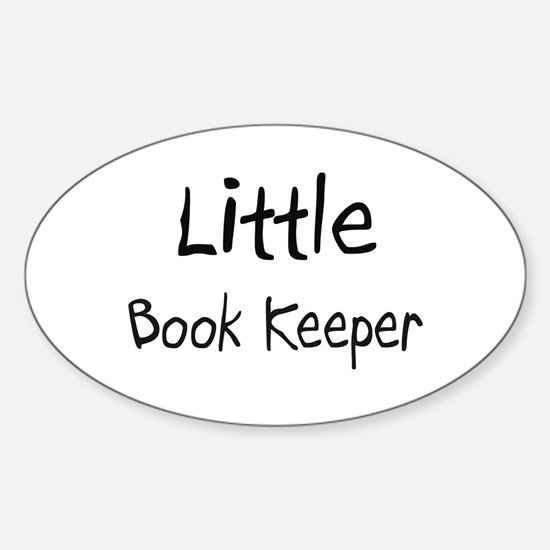 Little Book Keeper Oval Decal