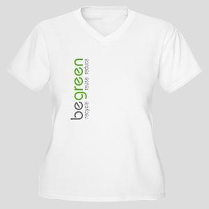 Be Green Women's Plus Size V-Neck T-Shirt