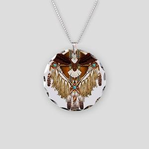 Bald Eagle Mandala Necklace Circle Charm