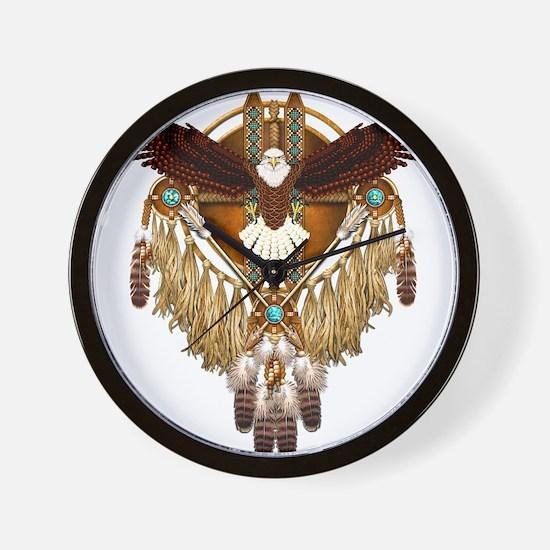 Bald Eagle Mandala Wall Clock