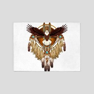 Bald Eagle Mandala 5'x7'Area Rug