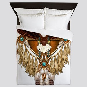 Bald Eagle Mandala Queen Duvet