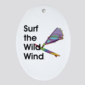 TOP Windsurfing Oval Ornament