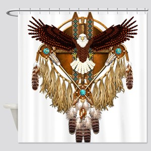 Bald Eagle Mandala Shower Curtain