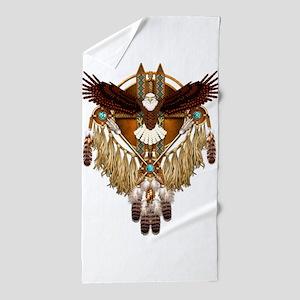 Bald Eagle Mandala Beach Towel