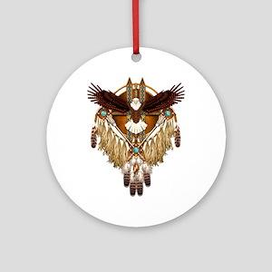 Bald Eagle Mandala Round Ornament