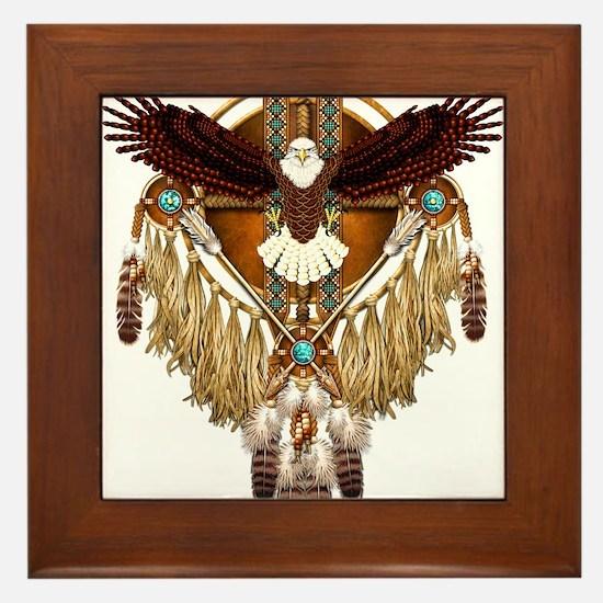Bald Eagle Mandala Framed Tile