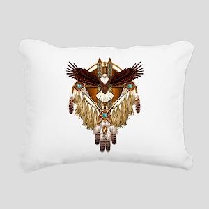 Bald Eagle Mandala Rectangular Canvas Pillow