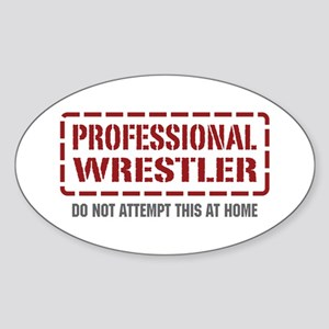 Professional Wrestler Oval Sticker
