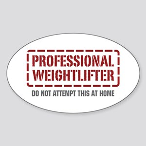 Professional Weightlifter Oval Sticker
