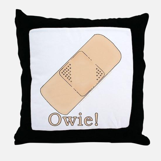 Cute Bandage Art Throw Pillow