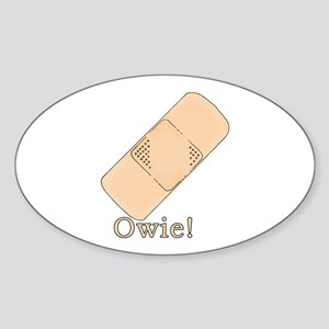 Cute Bandage Art Oval Sticker