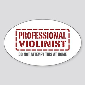 Professional Violinist Oval Sticker