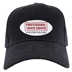Truck Driver Black Cap With Patch - CafePress 43330a9d5b55