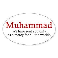 Muhammad Oval Sticker
