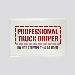 Professional Truck Driver Rectangle Magnet