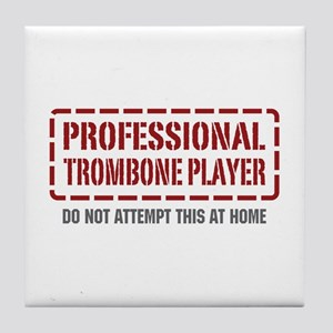 Professional Trombone Player Tile Coaster