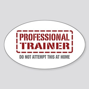Professional Trainer Oval Sticker