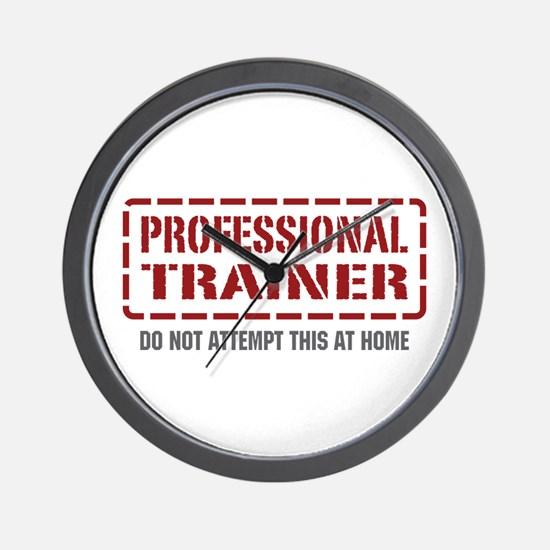 Professional Trainer Wall Clock